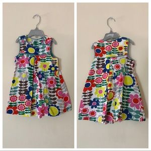 Toddlers dress with print flowers